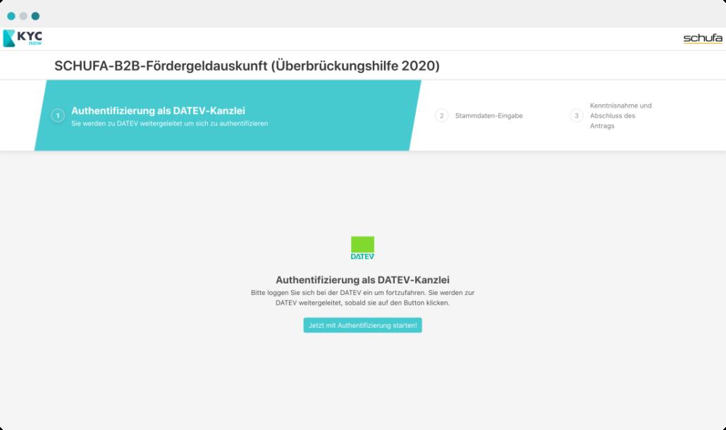 ClariLab Screenshot KYC Schufa-B2B-Fördergeldauskunft