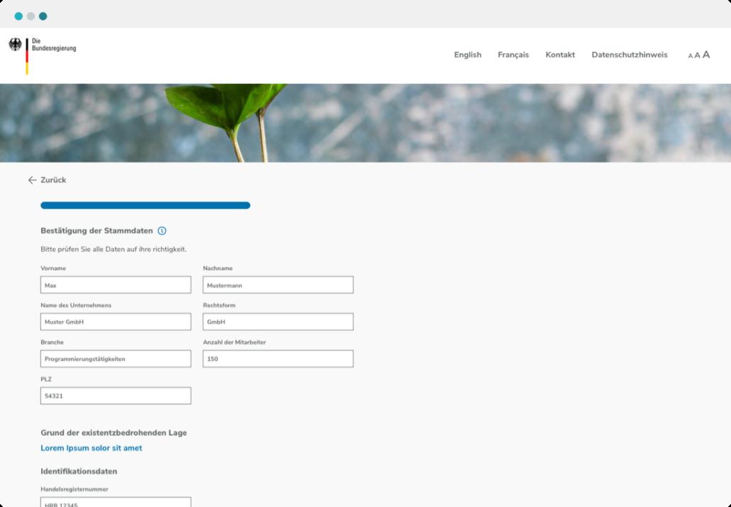 ClariLab B2B Foerderkredite Screenshot